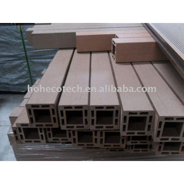 Fácil instalación wpc correos 100% reciclables mejor que los materiales de madera de madera - materiales compuestos de plástico post barandilla del cmp