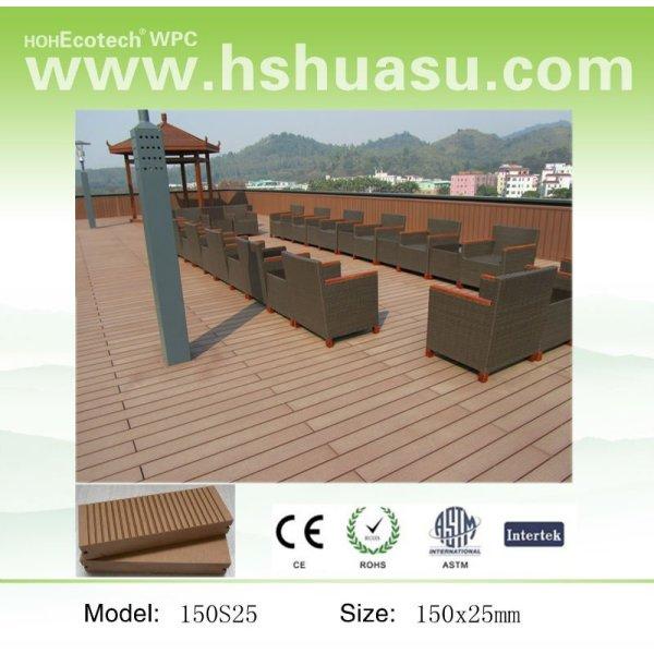 reciclable piso del wpc decking compuesto junta