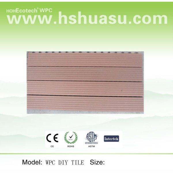 madera de plástico de madera del piso de bricolaje