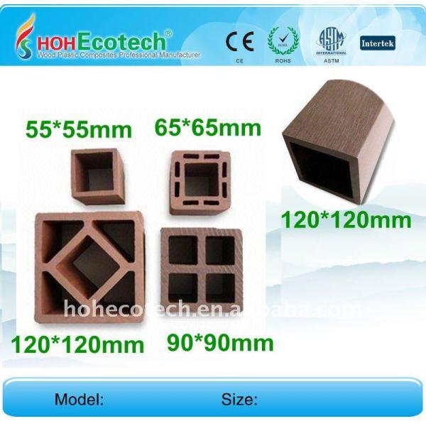 Scala ringhiera/corrimano resistente agli insetti indoor/esterno wpc scherma post wpc