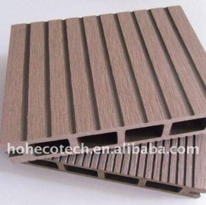 Decking de WPC/bois composés en plastique en bois de plate-forme de panneau de plancher wpc de plancher (CE, ROHS, ASTM, OIN 9001, OIN 14001, Intertek)