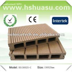 Anti - uv composto plástico de madeira decking ao ar livre ( ce rohs )