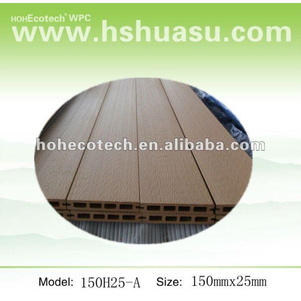 Recycable Holz und zusammengesetzter Plastikbodenbelag/Decking (imprägniern Sie,/Wormproof,/Anti-UV-,/beständiges, um zu verrotten und Form)