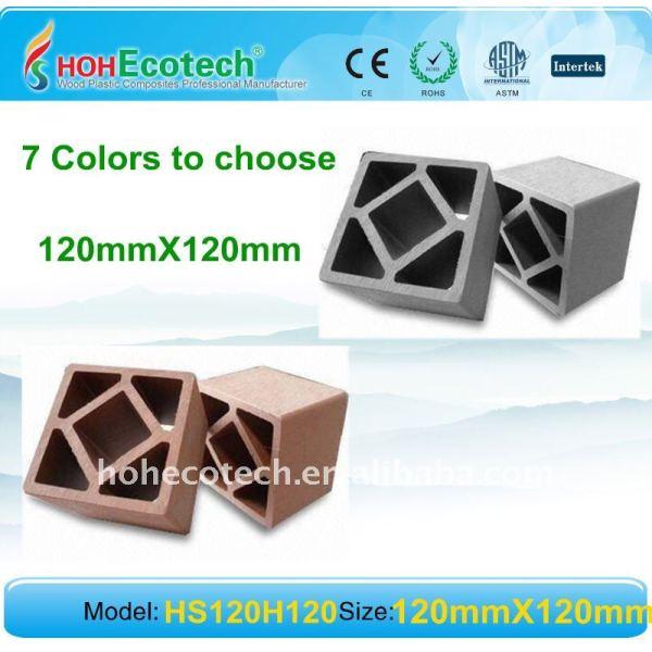 Indoor/esterno wpc scherma wpc post recinto in legno legno plastica materiali compositi post