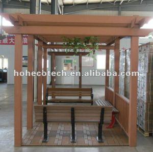 Wood Plastic composite wpc wooden pergola