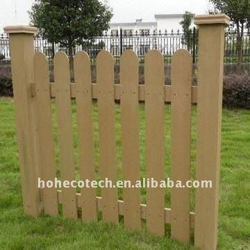 Wpc en plastique en bois de barrière des composés FENCING/garden de barrière EXTÉRIEURE de jardin clôturant la barrière en bois