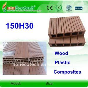 Garantie de qualité ! decking composé en plastique en bois de 150*30mm/decking plastique de plancher