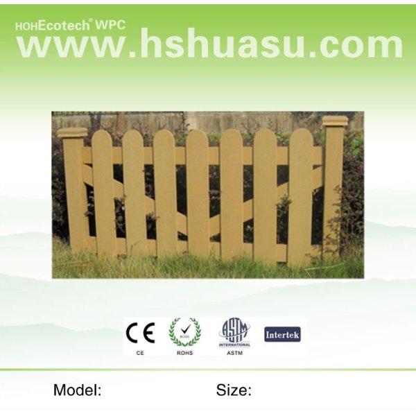 compuesto plástico de madera wpc valla