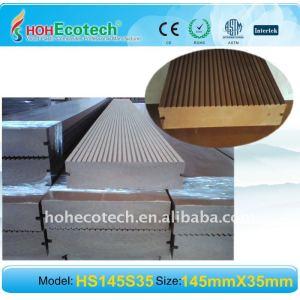 Madera decking compuesto/suelo superficie de lijado tablero decking del wpc wpc suelo al aire libre