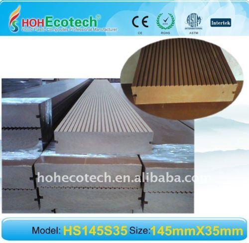 Plancher extérieur de PONÇAGE composé en bois WPC de wpc extérieur de conseil de decking/DECKING du plancher