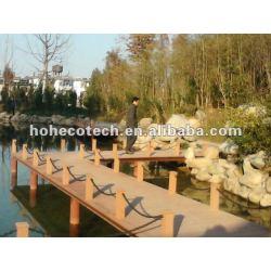 Umweltfreundlicher populärer hölzerner zusammengesetzter Decking wpc Plastikdecking/Bodenbelag (CER, ROHS, ASTM, ISO9001, ISO14001, Intertek)