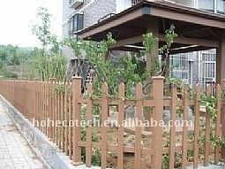garden wood post WPC railing wpc wood fence PUBLIC places Decoration wpc fencing