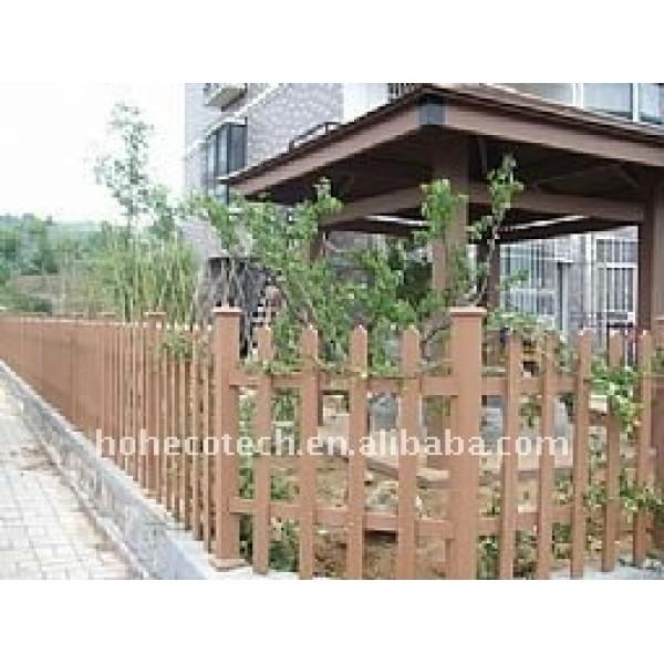 jardín poste de madera wpc barandilla wpc valla de madera decoración lugares públicos wpc esgrima