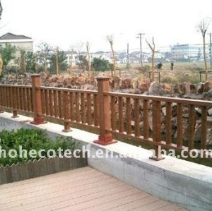 outdoor waterproof fencing PUBLIC places Decoration wpc railing wpc fencing