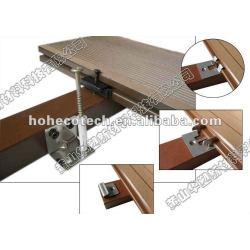 Decking de wpc accesorries clip e parafusos final clip prendedor de compósitos de madeira madeira decking de wpc/pisos wpc composto