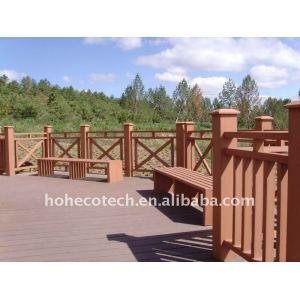 PUBlic Leisure Square /ground wood plastic composite wpc bench/railing/post wpc fencing
