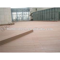 Imprägniern Sie wetterfeste wpc Plattform hölzernen zusammengesetzten Decking wpc Plastikdecking/Bodenbelag (CER, ROHS, ASTM, ISO9001, ISO14001, Intertek)