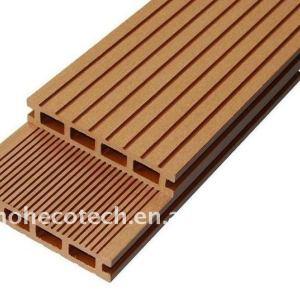 Decking en bois composé de decking de plate-forme de panneaux de decking en plastique EN BOIS de wpc