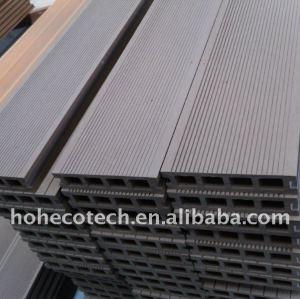 revêtement de sol stratifié woodlike matériel wpc plancher decking de wpc