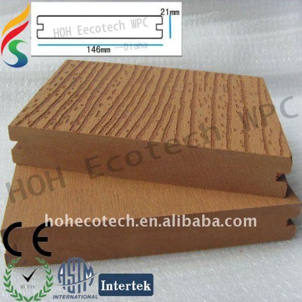 Madera - los materiales de polímero de wpc cobertizo