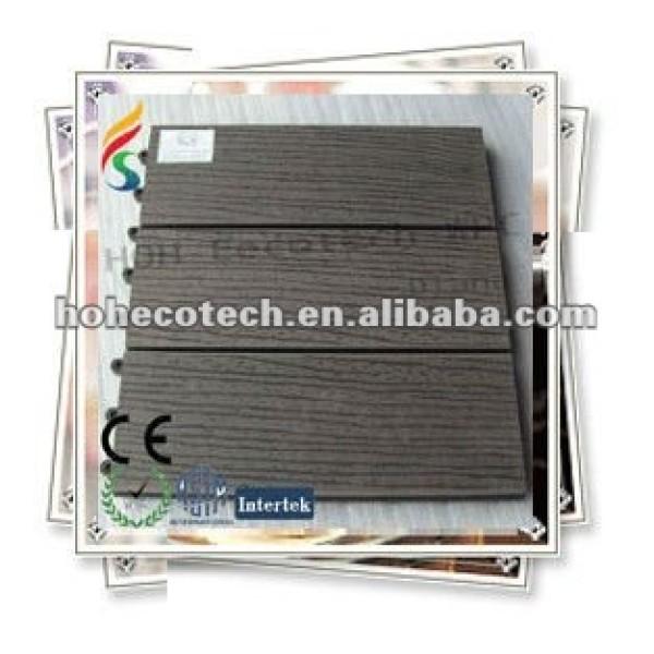 Tablero de suelo diy plástico de madera respetuoso del medio ambiente caliente de la venta 300*300m m
