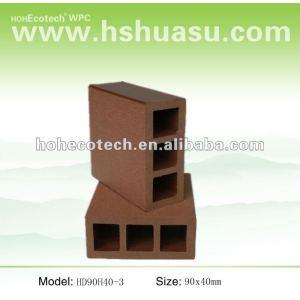 Venta caliente! A prueba de agua ( compuesto plástico de madera ) hueco wpc barandilla de la escalera/jardín barandilla/guardia de los carriles
