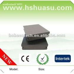 Popular huasu wpc exterior sólidos de madeira decking composto plástico ( ce rohs iso9001 )