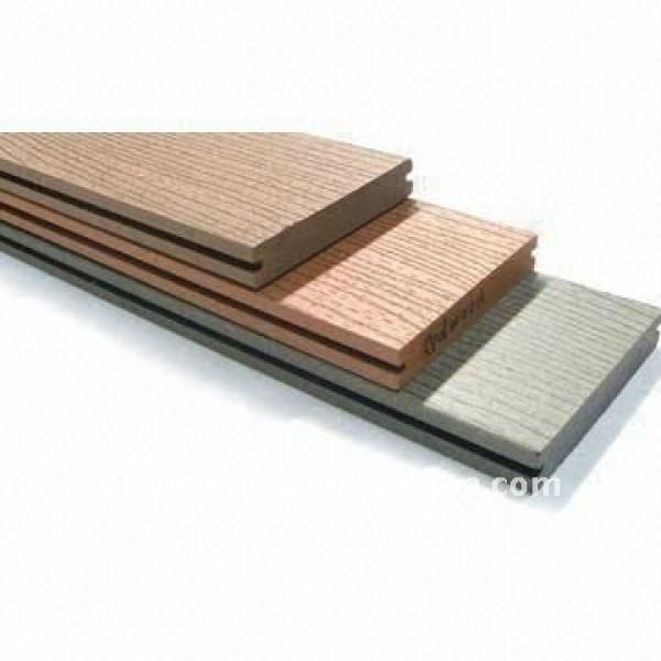 le ménage/nouveaux plancher/decking matériels du wpc PLANCHER extérieur (composé en plastique en bois) ne se déformera pas, se dédoubler, se boursoufler