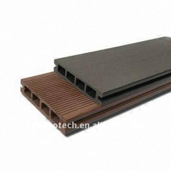 Ménage creux de conception d'allumeur/nouveau plancher matériel extérieur de wpc (composé en plastique en bois)/plancher en bois de decking