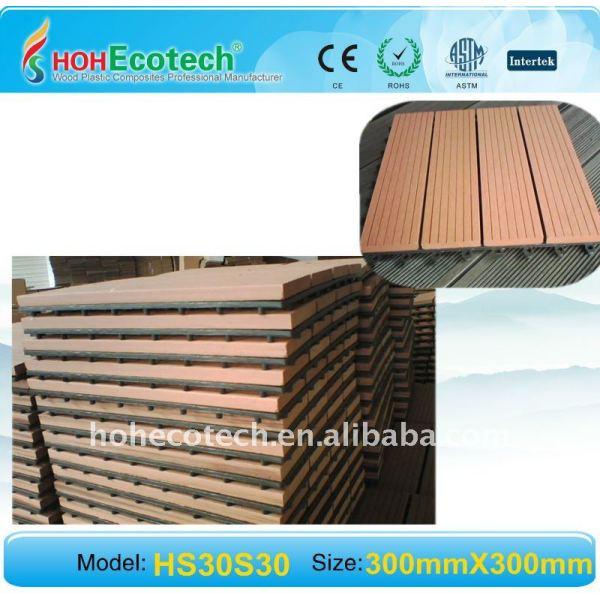 Ménage creux de conception d'allumeur/nouveaux plancher de wpc (composé en plastique en bois)/plancher matériels extérieurs en bois de decking