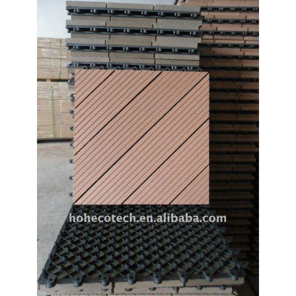 Plancher matériel de wpc de plancher moderne de salle de séjour (composé en plastique en bois)/plancher en bois de decking