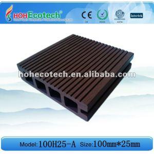 Hueco wpc suelo entarimado/compuesto de piso/compuesto de la cubierta