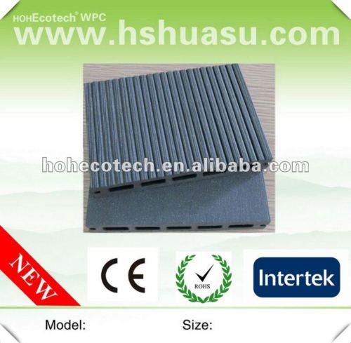 Decking gris de cavité de wpc de couleur des bons prix (CE ROHS ISO9001)