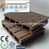 Decking de decking de la couleur foncée WPC/plancher composé en plastique en bois/decking/plancher-anti-mycète composés