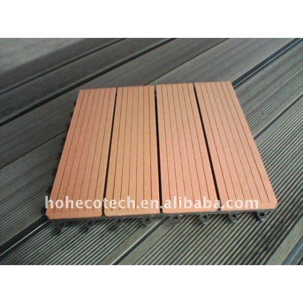 Wpc ( compuesto plástico de madera ) suelo/terrazas no - deslizamiento, el desgaste - resistan de plástico de madera plataforma pisos de madera