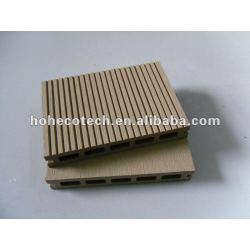 La mayoría de 145x22mm adecuado al aire libre de mimbre/madera decking compuesto plástico de madera decking/suelo junta cubierta de teja wpc madera