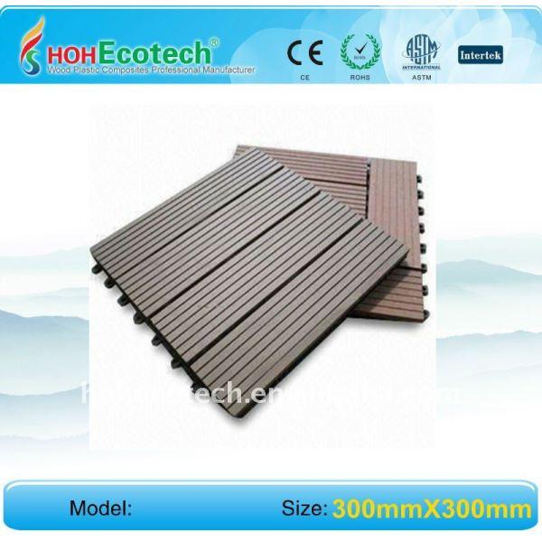 plancher composé en plastique en bois de wpc de décoration de fashional de decking en bois en plastique fonctionnel de decking/plancher en bois de decking