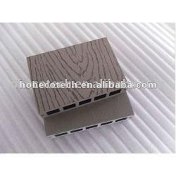 La superficie de grabación en relieve de hueso/madera decking compuesto plástico de madera decking/suelo junta cubierta de teja wpc madera