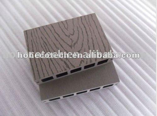 Le decking de Decking en bambou extérieur de /wood/la plate-forme composés en plastique en bois gravants en refief de wpc panneau de plancher couvrent de tuiles le bois de construction