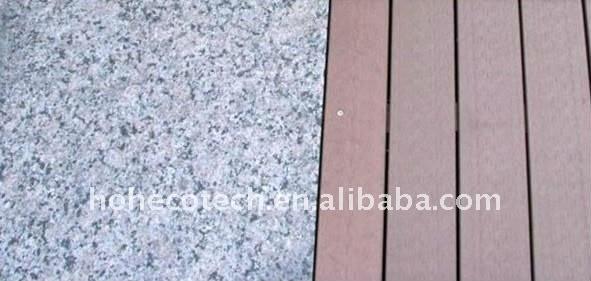 balcon/decking de WPC/plancher composés en plastique en bois d'intérieur/extérieurs (CE, ROHS, ASTM, OIN 9001, OIN 14001, Intertek)