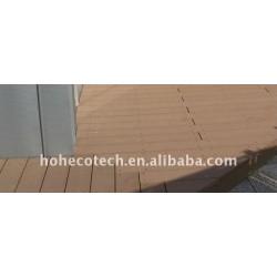 Larga vida de uso wpc compuesto plástico de madera decking/suelo ( ce, rohs, astm, iso 9001, iso 14001, intertek )