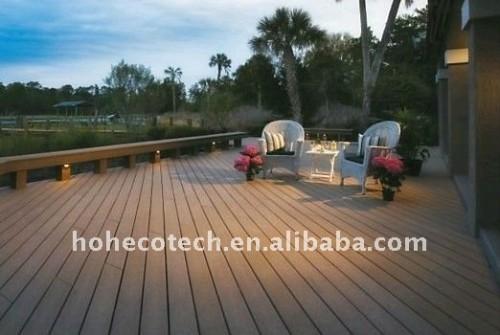 Decking de wpc de decking de prix de gros/plate-forme composés de trex decking WPC de plancher
