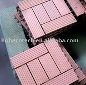 installation tuile-facile composée en plastique du bois de decking/plancher