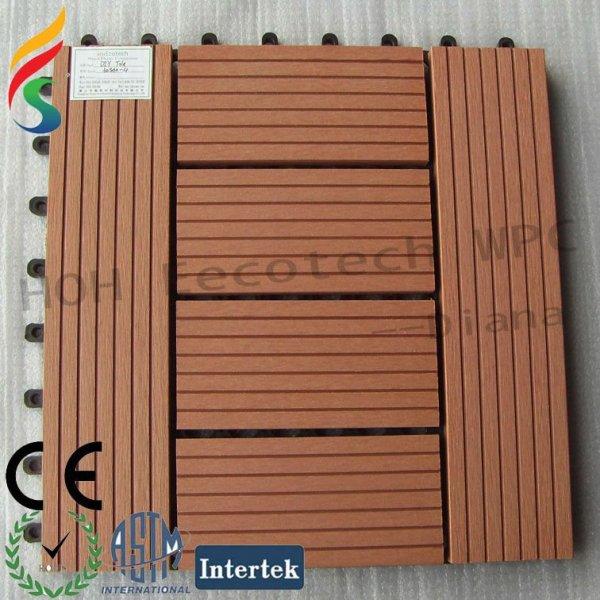 al aire libre compuesto plástico de madera cubierta de teja