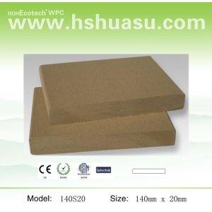 140x19mm compuesto plástico de madera de china