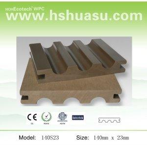 140x23mm compuesto plástico de madera wpc
