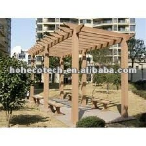 Cedar/copper brown/wood/sandalwood/coffee/grey/dark grey wood plastic composite pergola