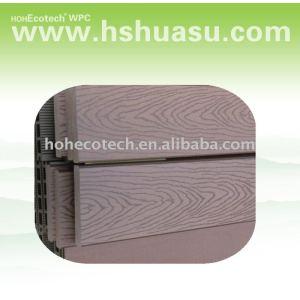 piso compuesto plástico de madera popular del decking