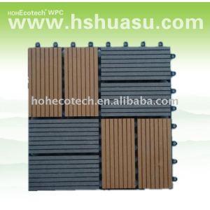 Eco - friendly wood plastic composite decking/ telha de assoalho