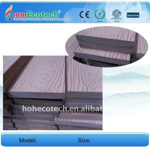 Prägen oberfläche 140*20mm wpc holz-kunststoff-verbundmaterial decking/bodenbelag wpc diele wpc-decking boden